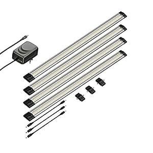 parlat led unterbau leuchte siris flach je 50cm elektronik. Black Bedroom Furniture Sets. Home Design Ideas