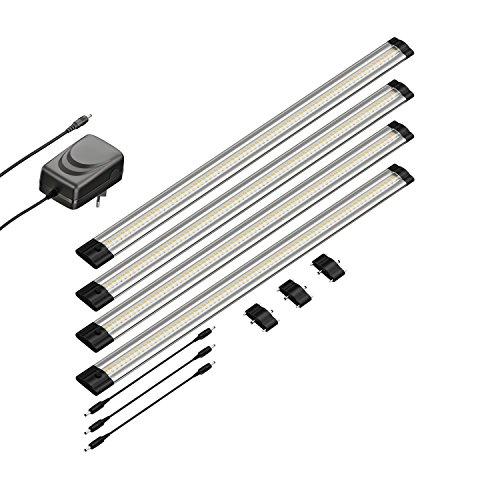 parlat LED Unterbau-Leuchte SIRIS, flach, je 50cm, 500lm, warm-weiß, 4er Set