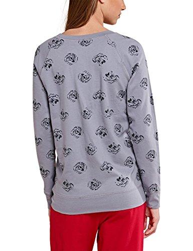 Uncover by Schiesser Crew L/Sleeves, Haut de Pyjama Femme Gris - Grau (grau 200)