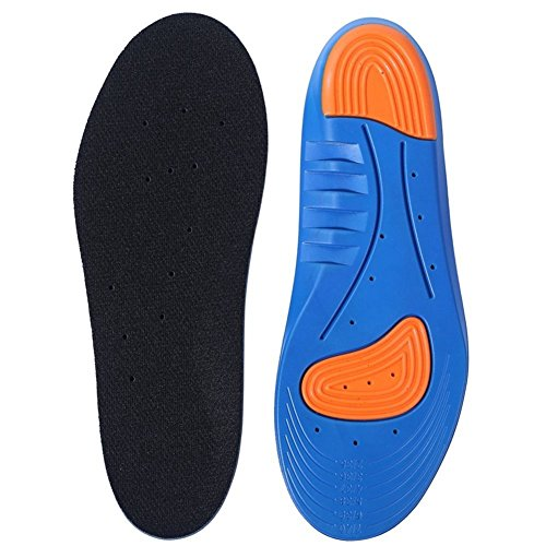 Samxu Sports Shoe Insoles, Breathable Arch support Foot Pressure Relief, Full Length Shoe Inserts Comfort Neutral Providing Shock Absorption and GEL Cushion for Man -