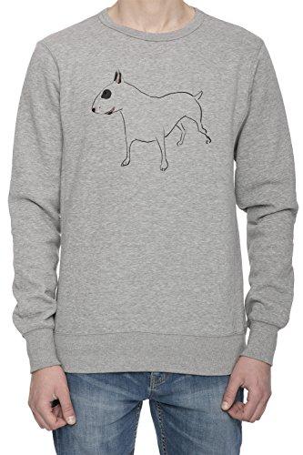 Cane Di Bull Terrier Uomo Grigio Felpa Saltatore | Men's Grey Sweatshirt Jumper