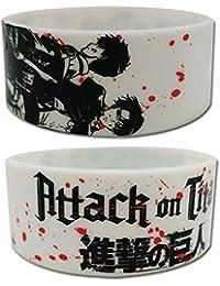 Preisvergleich für Wristband–Attack on Titan–NEUE Eren & Levi weiß Anime Lizenzprodukt ge54242