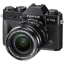 """Fujifilm X-T20- Cámara EVIL de 24 MP (pantalla de 3"""", visor electrónico, resolución máxima 4K ) negro - kit cuerpo con objetivo XF 18-55 F2.8-4 R LM OIS"""