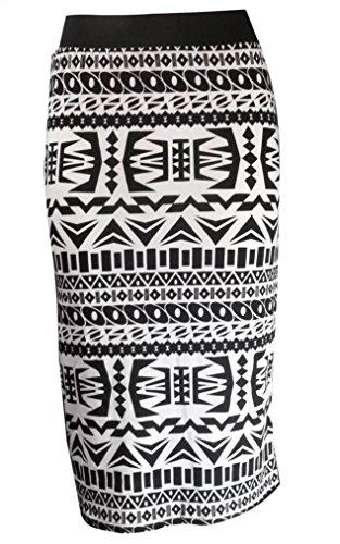 Funky Fashion Shop Damen Rock White Tribal