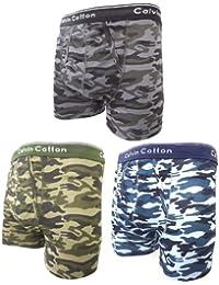 Mens CAMO Camouflage Classics Boxer Shorts Boxers Underpants Pants - 100% Cotton