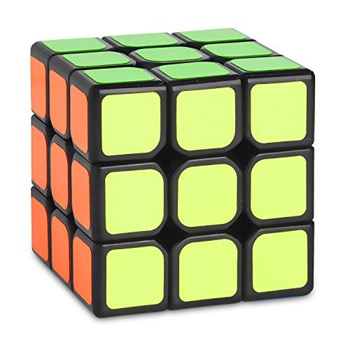 Zauberwürfel - 3x3 Speed-Cube MO FANG GE (Qiyi) Thunderclap - schwarz- inkl. Cubikon-Tasche