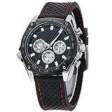 Korean BlueVega stile Casual, Unisex, in Silicone per orologio al quarzo, con quadrante per orologio da polso, colore: nero