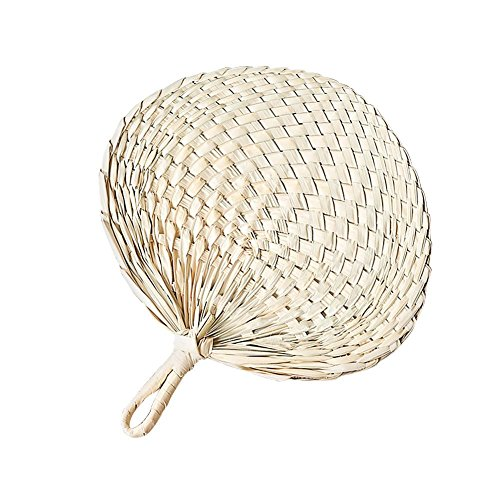 Kbsin212 Chinesischer Fan, Chinesischer Stil Natural Handmade Fan Palmblatt Cool Fan Home Dekoration Handmade Palm-Leaf Fan Gewebte Palm Leaf