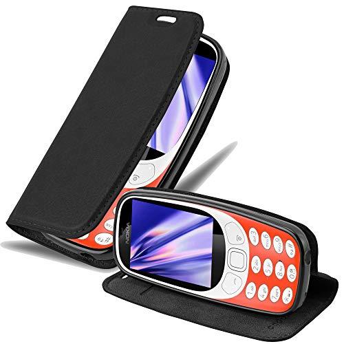 Cadorabo Custodia Libro per Nokia 3310 in Nero di Notte - con Vani di Carte, Funzione Stand e Chiusura Magnetica - Portafoglio Cover Case Wallet Book Etui Protezione