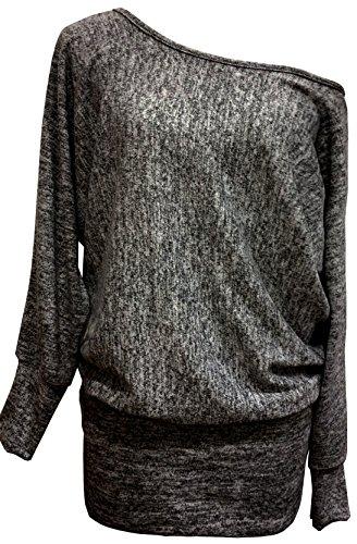 Emma & Giovanni - Sweatshirt - Pullover - Damen (S/M (36-38), Schwarz)
