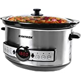Syntrox Germany Slow Cooker LED digitale da 3,5 litri in acciaio inox con timer e funzione di mantenimento del calore