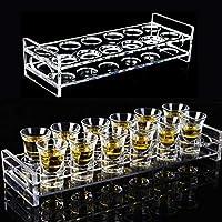 LYY Vasos de whisky Lujo Cristal Set Whisky Transparentes Bar Portavasos copa vino Suministros Vidrio la