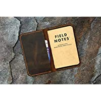 Personalised leather cover for pocket size field notes notebook/slim minimal field notes leather case cover FA605S