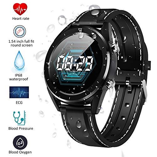Qimaoo Montre Connectée Homme Femmes Smartwatch Montre Sport Fitness Tracker IP68 GPS Smart Watch avec Cardiofréquencemètre, Tension Artérielle, Podomètre, Moniteur de Sommeil pour Android iOS