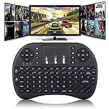 Myfizi Computer Laptop Compatible Wireless Bluetooth Touchpad Keyboard, Wireless Mini Keyboard, Air Mouse Keyboard Wireless Remote Mouse
