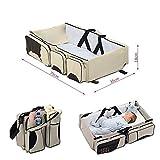 Screl - Sac à langer de voyage 3 en 1 avec rangements pour bébé berceau lit...