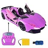 RC-Fernbedienung Auto Spielzeug mit automatisch einem Knopf zum Öffnen der Tür-Fernbedienung und Lichter 1:12 elektrische Modell ferngesteuerter RC Auto Junge Mädchen Geschenk