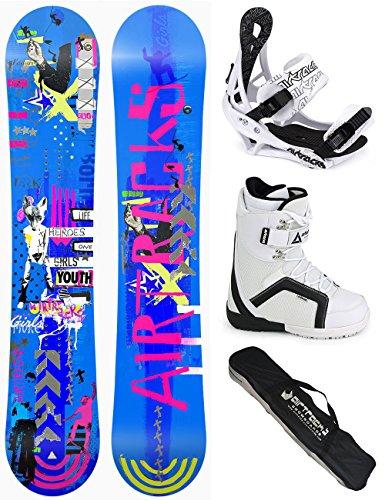 AIRTRACKS SNOWBOARD SET - TAVOLA BLUEBIRD DONNA 151 - ATTACCHI SAVAGE W - SCARPONI STRONG 42 - SB SACCA/NUOVI - All Mountain Snowboard Attacchi