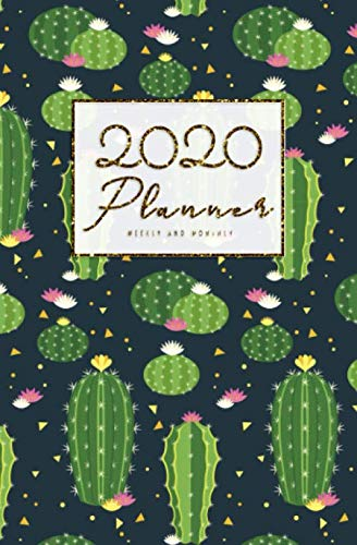2020 Weekly And Monthly Planner: Calendar Schedule, Squares Quad Ruled Notes, Dot Notes, No Holiday Cactus (January 2020 through December 2020) Pocket Size 5.25
