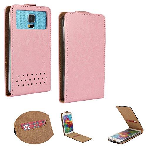 Handy Hülle für - ZTE Blade C341 - Flip Tasche mit Kreditkartenfach - Flip Nano XS Rosa