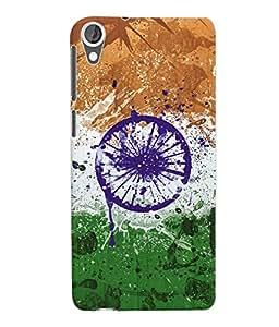 Fuson 3D Printed India Flag Designer Back Case Cover for HTC Desire 820 - D609