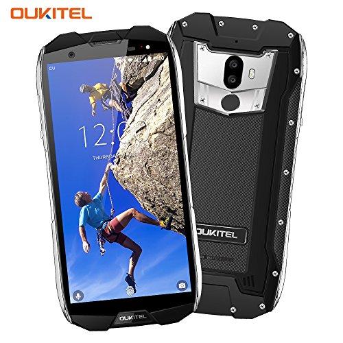 Outdoor Smartphone, OUKITEL WP5000 5,7 Zoll Display, Android 7.1 Handy ohne Vertrag, Dual Sim Handy, IP68 Wasserdicht Stoßfest Staubdicht, 6GB+64GB, Helio P25 Octa Core,Mobiltelefon 4G,5200mAh-Schwarz