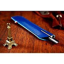 Junsi Blue Leather Cuero Case Fundas Cover Sleeve Pouch Bag for FiftyThree Paper Pencil Lapiz 53 Stylus Pencil Lapiz