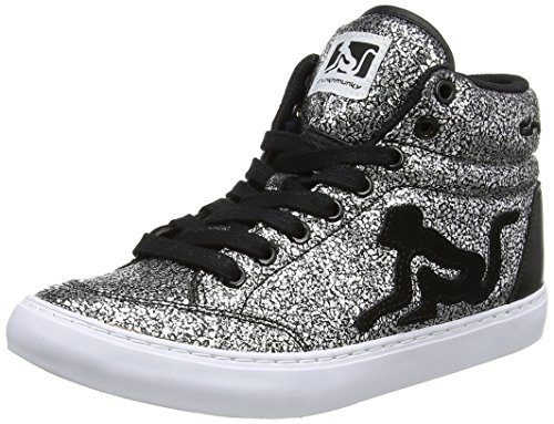 DrunknMunky Boston Galaxia, Scarpe da Tennis Donna, Argento (Black), 40 EU