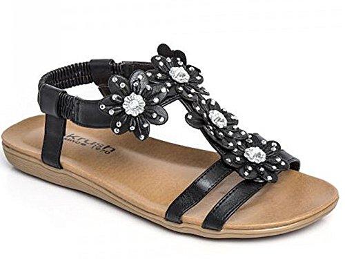 Jo & Joe ,  Mädchen Damen Slingback Sandalen , schwarz - Black 101 - Größe: 39
