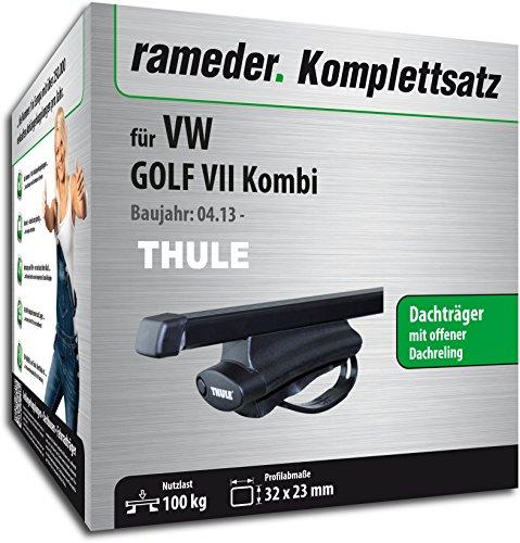 Rameder Komplettsatz, Dachträger SquareBar für VW GOLF VII Kombi (116020-11221-10)