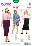 Burda Damen Plus Größe Easy Schnittmuster 6617Jersey Knit Elastic Taille Röcke