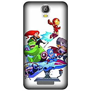 Micromax Canvas Juice 2 Printed Back Cover By Winchip - Multicolor