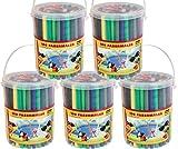 Idena 621492 - Fasermaler 100er in Eimer, 30 Farben (5 Eimer)
