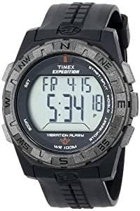 Timex Expedition Fullsize Digital Watch with LCD Dial Digital Display and Black Resin Strap T49851SU