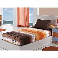 Cañete - Edredón ajustable LOICA cama 90 - Color Naranja