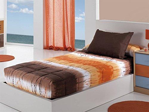 Cañete - Edredón ajustable LOICA cama 105 - Color Naranja
