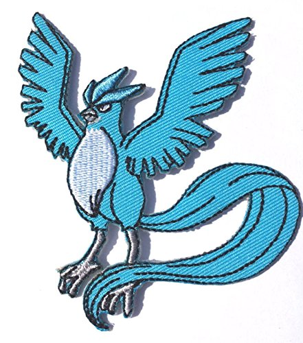 Blastoise Kostüm (Articuno Patch Pokemon Go Aufbügeln oder nähen Badge Aufnäher legendären Birds Ice Freeze DIY Kostüm Team Instinct Mystic Valor)