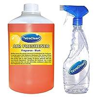 Tetraclean Multipurpose Musk Fragrance Air Freshener With Free Spray Bottle (1100ml)
