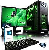 VIBOX Apache Komplett-PC Paket 9 Gaming PC - 4,1GHz AMD FX 6-Core CPU, GTX 1050 Ti GPU, Super, Wassergekühlter Desktop Gamer Computer mit Spielgutschein, 22