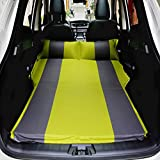 Auto Aufblasbare Matratze Reise Luftbett Rücksitz SUV Outdoor Exposed Camping Rücksitz Schlafmatte Kissen Auto Schock Bett (Farbe : Green Gray)