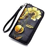 ZTM Frauen, die Geldbörse geprägten Reißverschluss um Handtasche mit Armband blockieren,Yellow