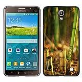 MDMG / Snap On Hartschalen-Case Schutzhülle Hülle - Bambuspflanze - Samsung Galaxy Mega 2
