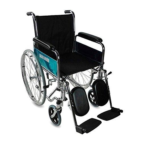 mobiclinic, partenón, sedia a rotelle per disabili, premium, manuale, pieghevole, ortopedica, in alluminio, freno sulle maniglie, poggiapiedi, braccioli, colore nero, seduta, leggerissima