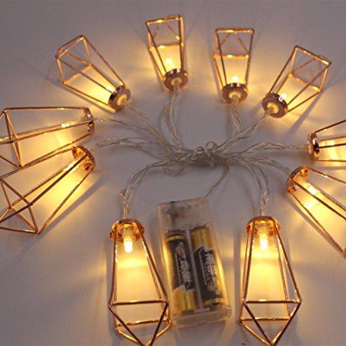 Xshuai Qualitäts-heißer Verkauf 10 LED Halloween-Weihnachtshochzeitsfest-Festivals-Dekor-im Freien feenhafte Schnur-helle Lampe (A: 4.5 * 3.5cm; B: 8 * 4.5cm; C: 3 * 2.5cm; D: 6.5 * 4.5cm Gelb) (Im Freien Dekor Halloween)