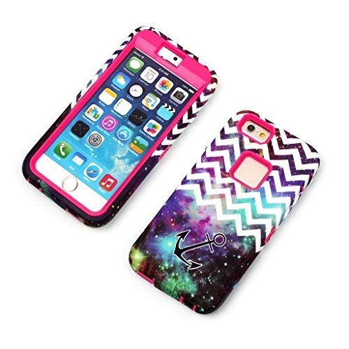 JNTworld iPhone 6s 6 4.7'' Case vague motif antichoc silicone Couverture, vert rose