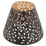 Woodwick 571452 Großer Glühend Bletter Kerzenschatten, Metall, mehrfarbig, 12.4 x 12.6 x 9.9 cm