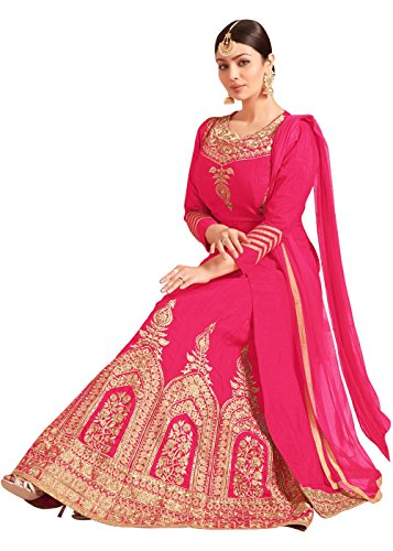 Designer Desk Women'S Silk A-Line Lehenga Choli /Semi Stitched /Free size Party...