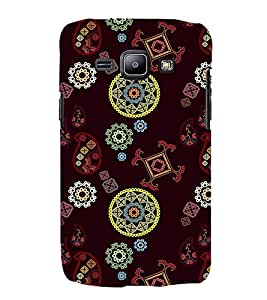 PrintVisa Designer Back Case Cover for Samsung Galaxy J1 (2015) :: Samsung Galaxy J1 4G (2015) :: Samsung Galaxy J1 4G Duos :: Samsung Galaxy J1 J100F J100Fn J100H J100H/Dd J100H/Ds J100M J100Mu (data card routers Floral Fabric Pattern)