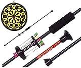 SET: Zerlegbares Sport ALU G8DS® Präzisions Blasrohr + 12 Dart Pfeile 100 cm + Dartscheibe