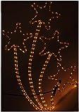 Lichterschlauch Lichtschlauch Sterne 43x72cm / Warmweiß / Innen & Außen / Lichterkette Weihnachtsbeleuchtung